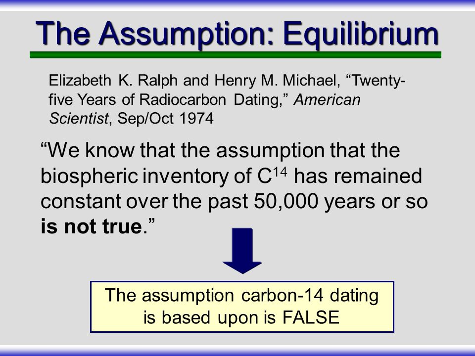 which fact about carbon-14 dating is false