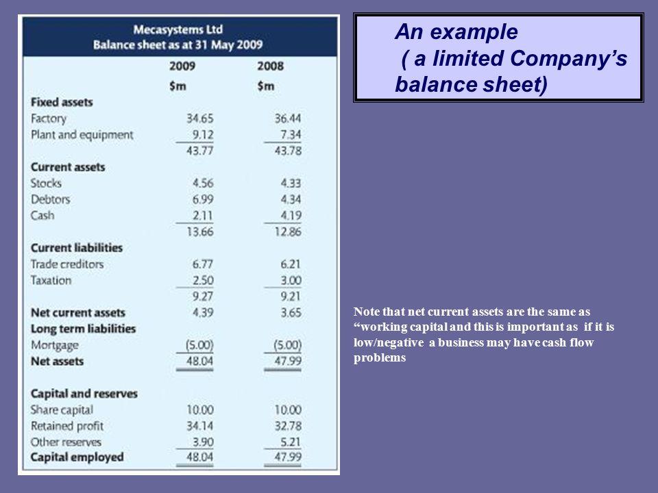accounting finance balance sheet igcse business studies ppt