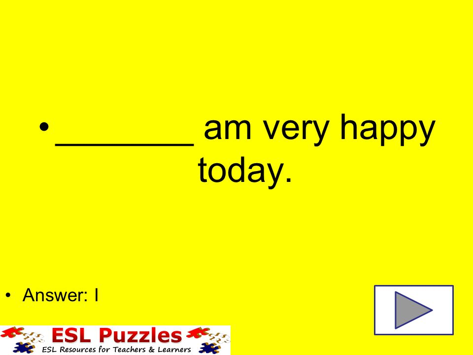 Iyou He Subject Object Pronouns Sheme Them Am Very Happy