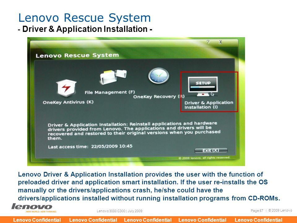 2009 Lenovo Lenovo Confidential Lenovo Confidential Lenovo