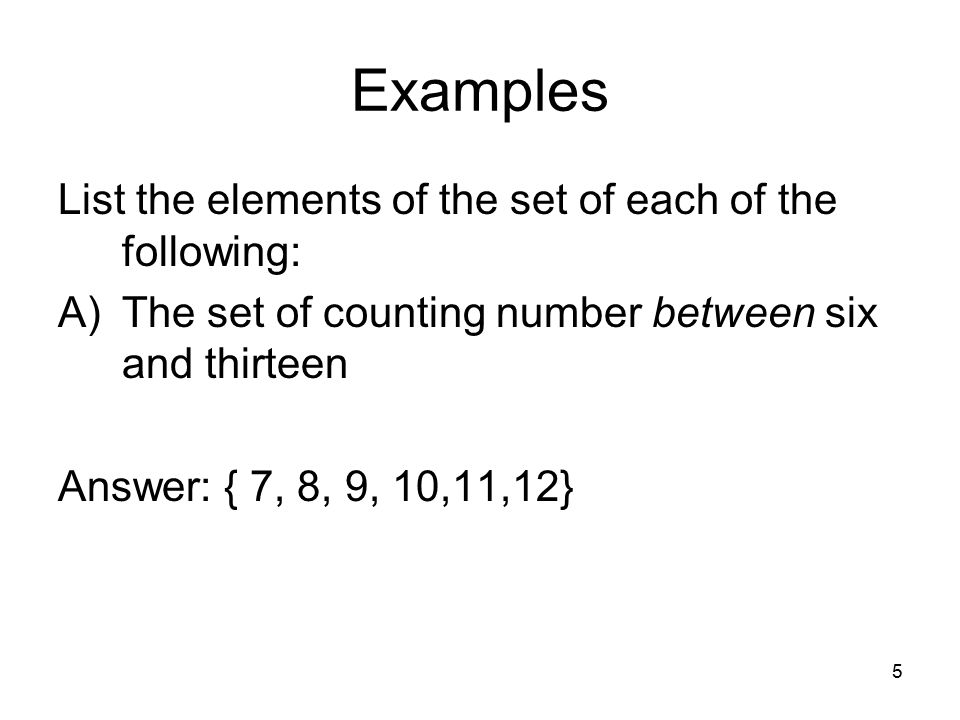 1 Chapter Two Basic Concepts Of Set Theory Symbols And Terminology