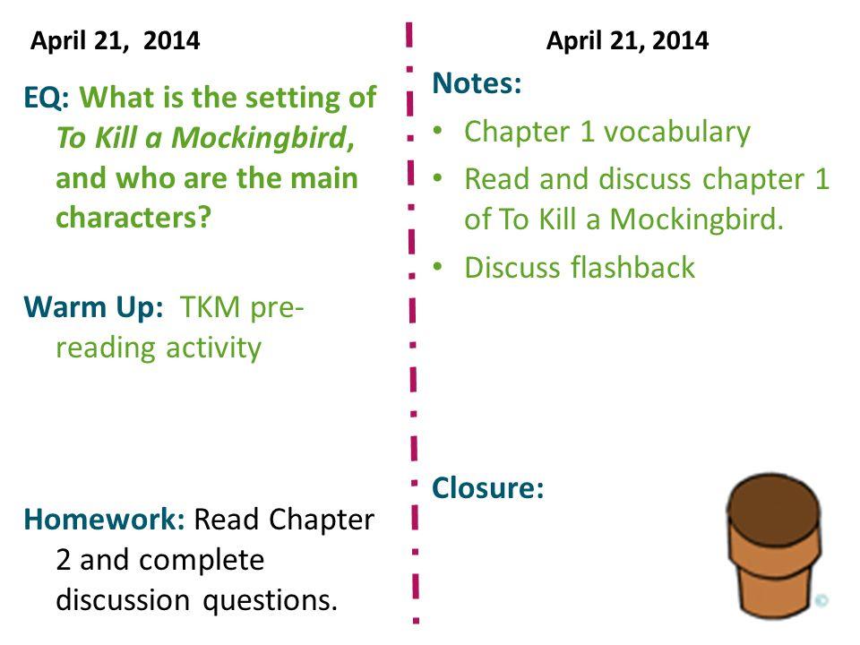 describe the setting of to kill a mockingbird