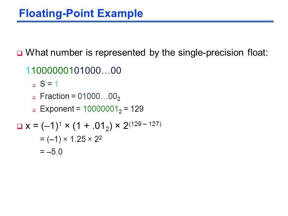 Single precision floating point number