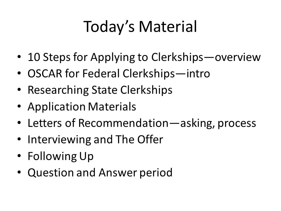 Clerkships 201 The Nuts And Bolts Of Applying For Judicial