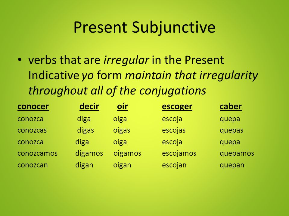 What are indicative verbs in spanish