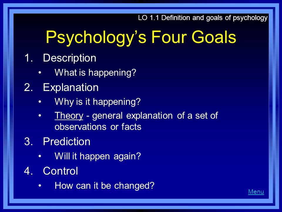 4 goals of psychology description