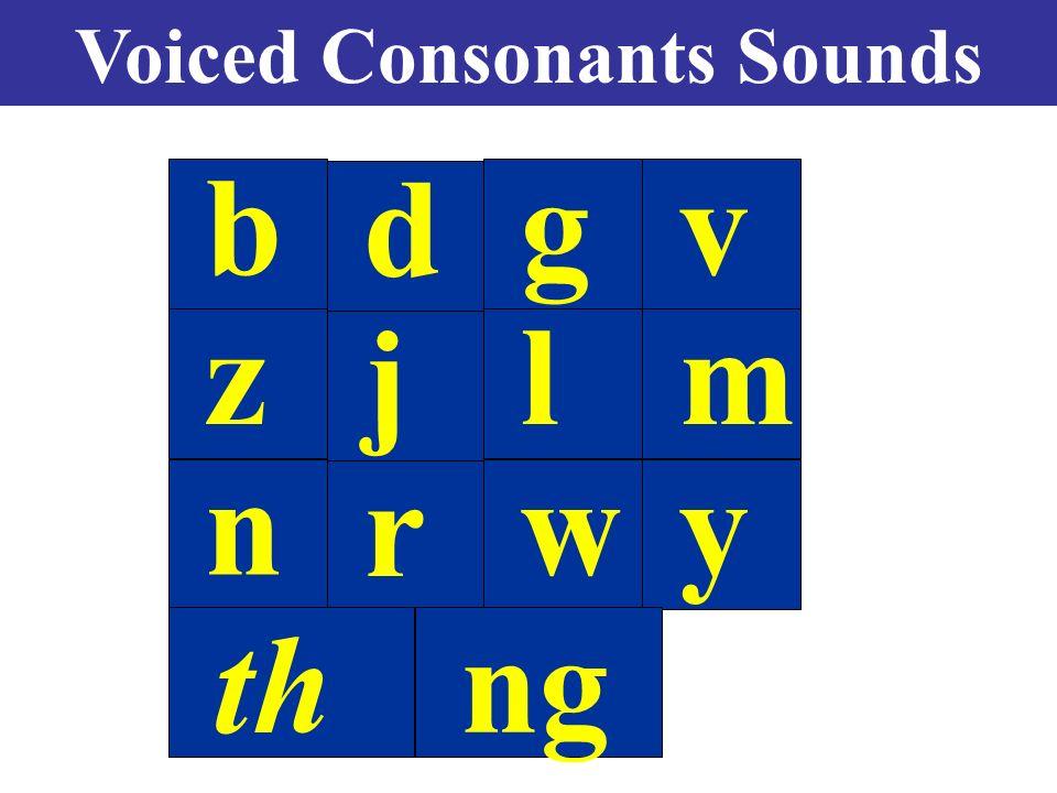 voiced consonant sounds