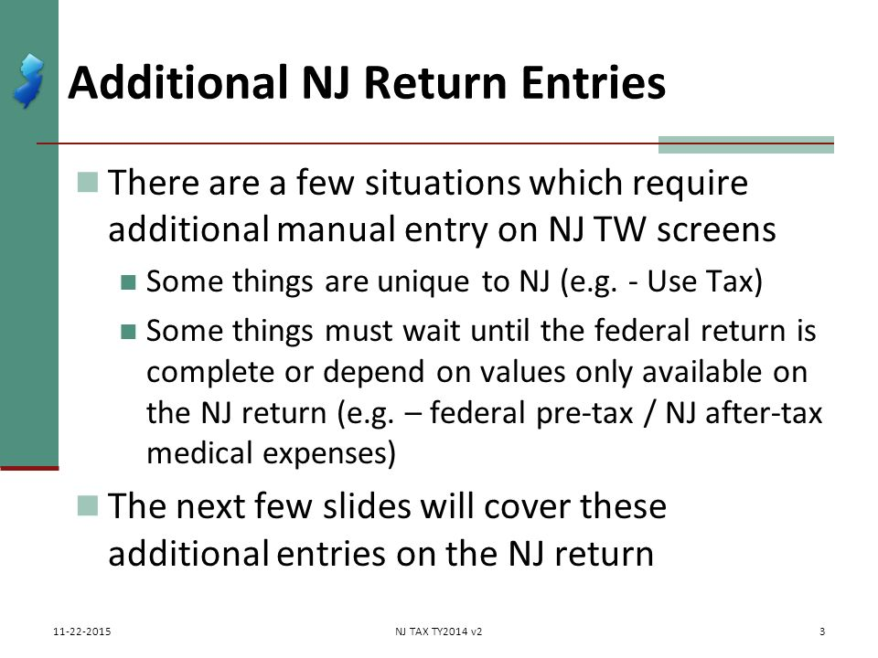 New Jersey Return Additional Entries Nj 1040 Instructions Nj Special
