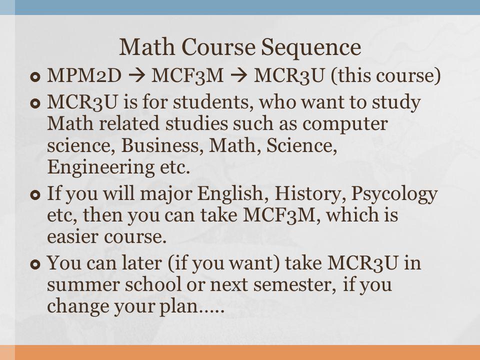 MCR3U (Grade 11 University Math) Mr  Park  Holonomic Brain Theory