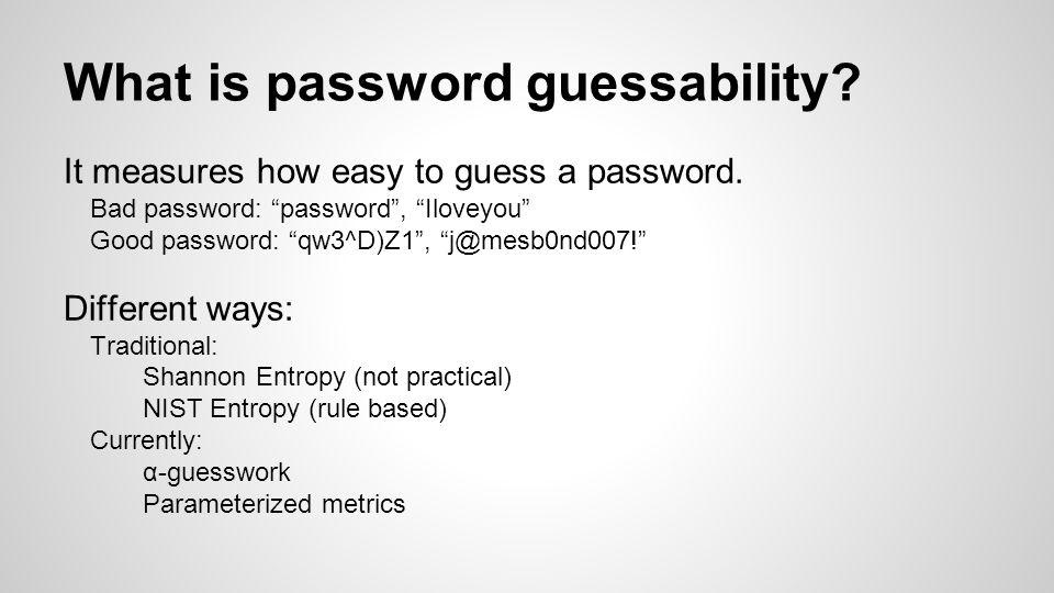 Password Entropy Calculator