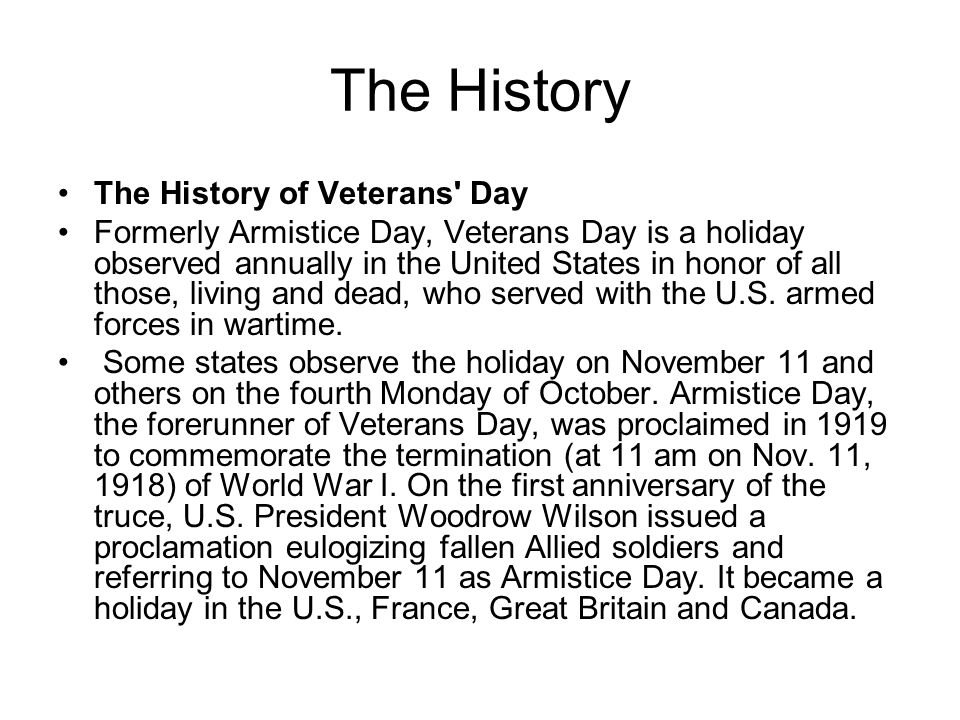 veterans day powerpoint presentation by naomi cary ppt download