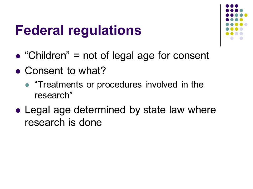 Legal age of consent in maryland
