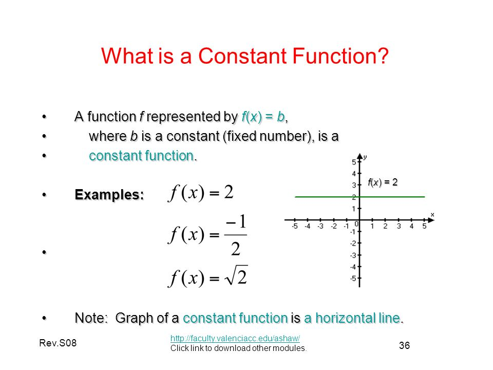 Constant function: definition & example video & lesson.