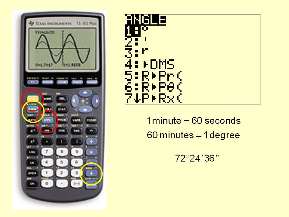 Section 1 – Trigonometry and the Graphing Calculator After