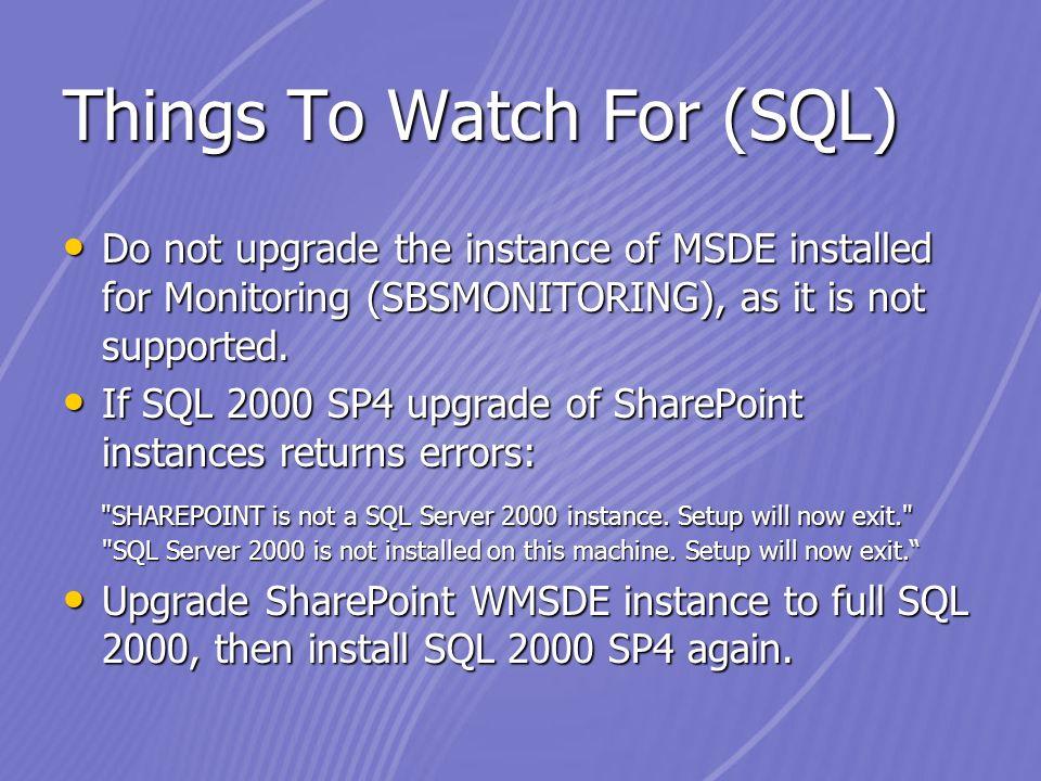 install sp4 sql2000 validating user