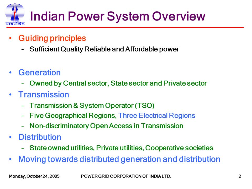 Operating the Indian Electricity Grid Challenges and Future