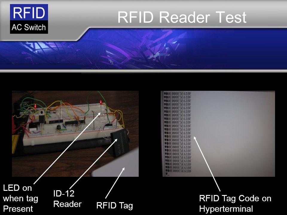 RFID AC SWITCH Final Presentation April 24, ppt download