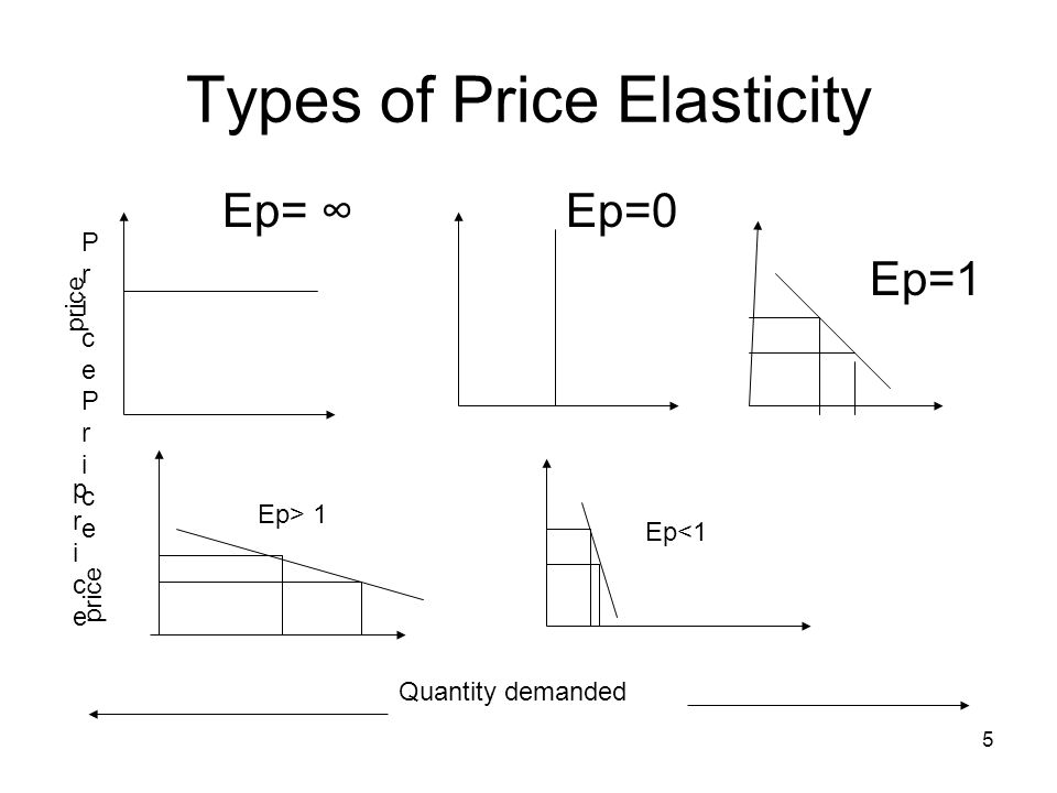 5 types of elasticity