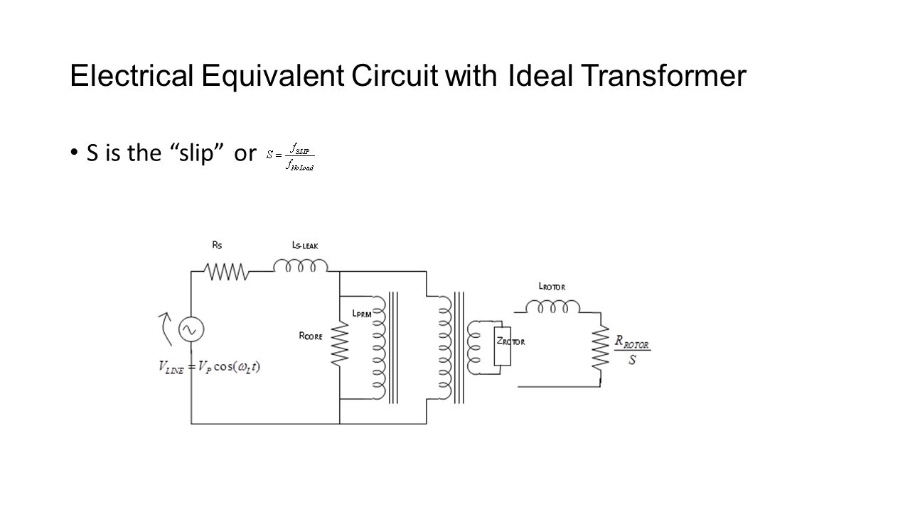 Induction Motors Equations Performance Electrical Equivalent Constant Airgap Motor Circuit 12