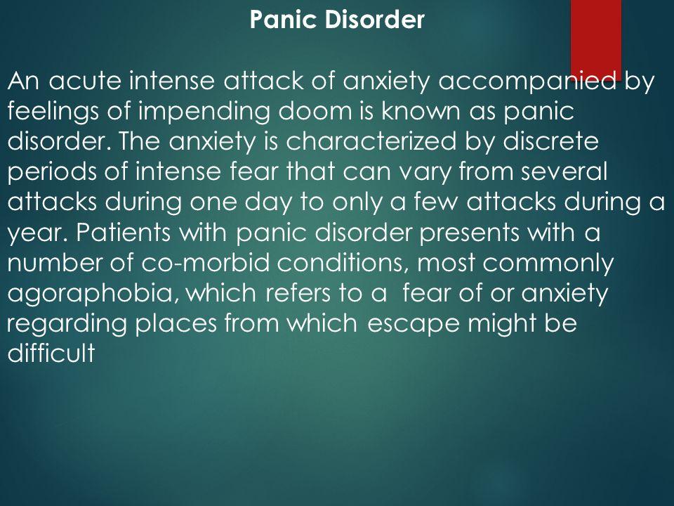 Feelings of impending doom anxiety
