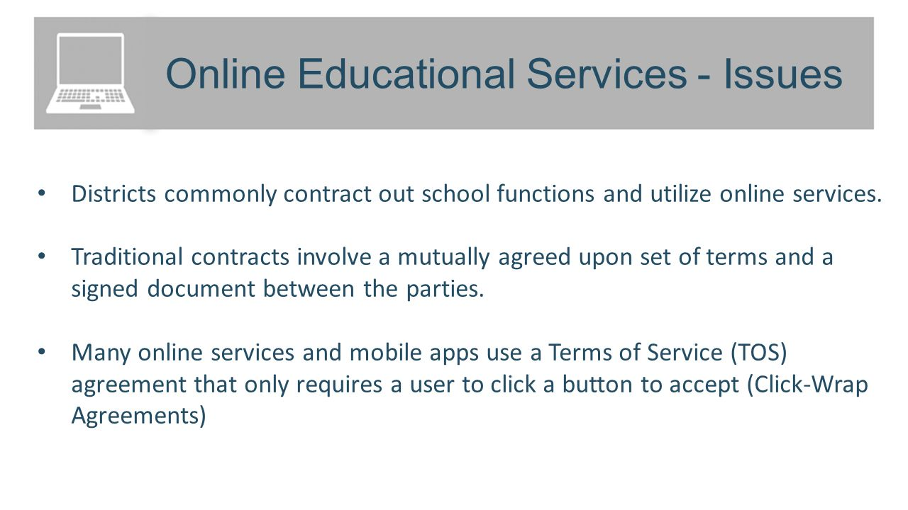 Online Educational Services Section Overview Contracts Click Wrap