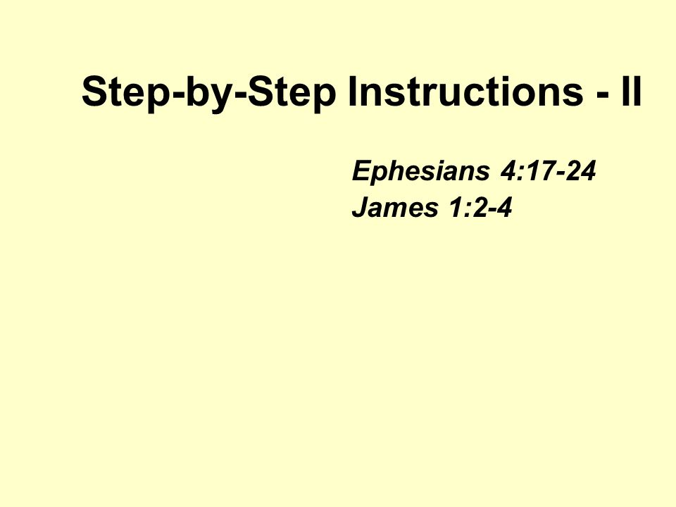 1 Step By Instructions