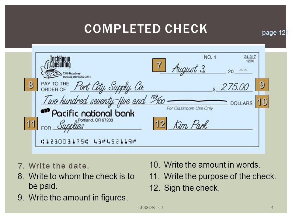 write a check online