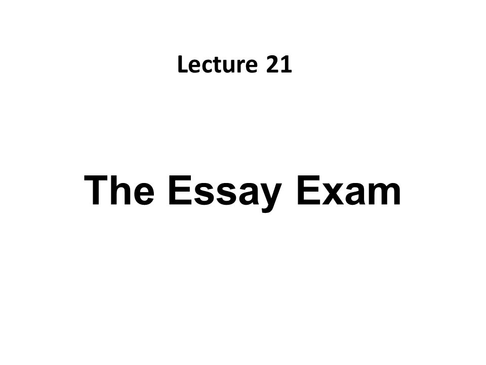The Essay Exam Lecture  Recap What Is Literature Essay Parts Of   The Essay Exam Lecture