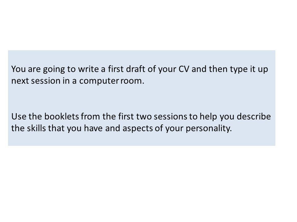Careers - CV Writing Skills To start or improve your CV and through ...