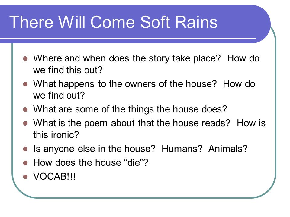 irony in there will come soft rains