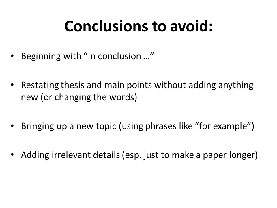 how to make conclusion in thesis