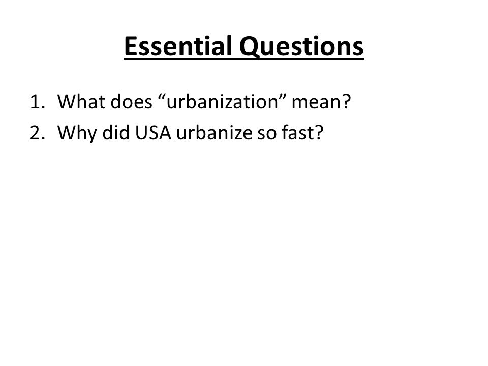 what does urbanization mean novanet