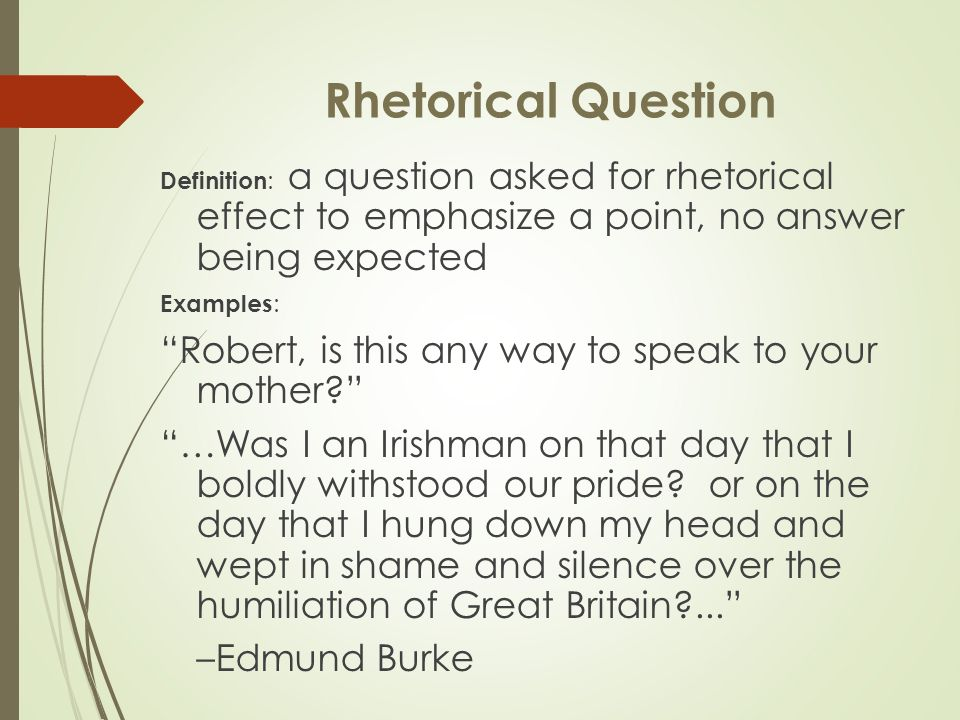 what does rhetorical effect mean