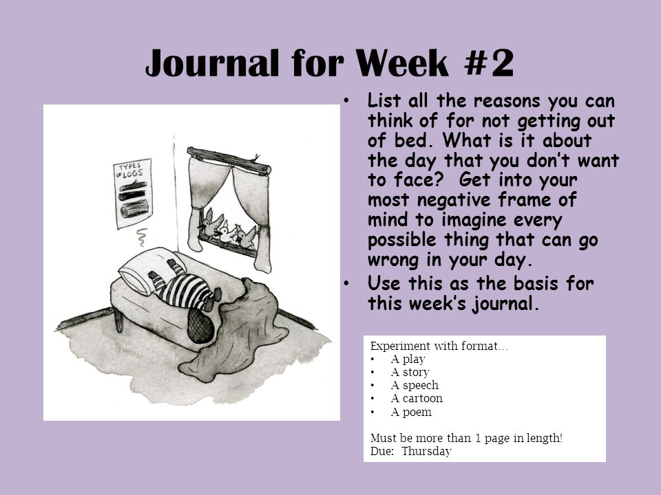"""Journal for Week #1 Write down """"snippets"""" of conversations that you ..."""