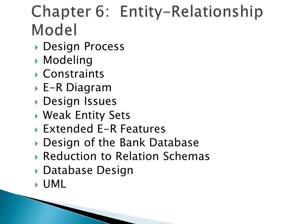 2  design process  modeling  constraints  e-r diagram