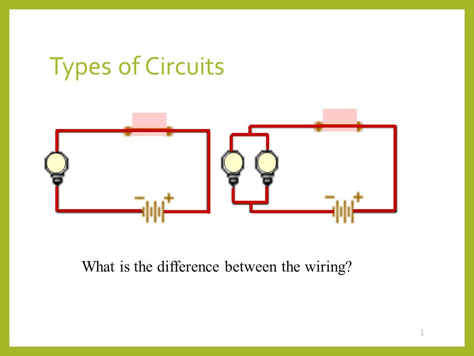 Types of Circuits 1 What is the difference between the wiring? - ppt ...