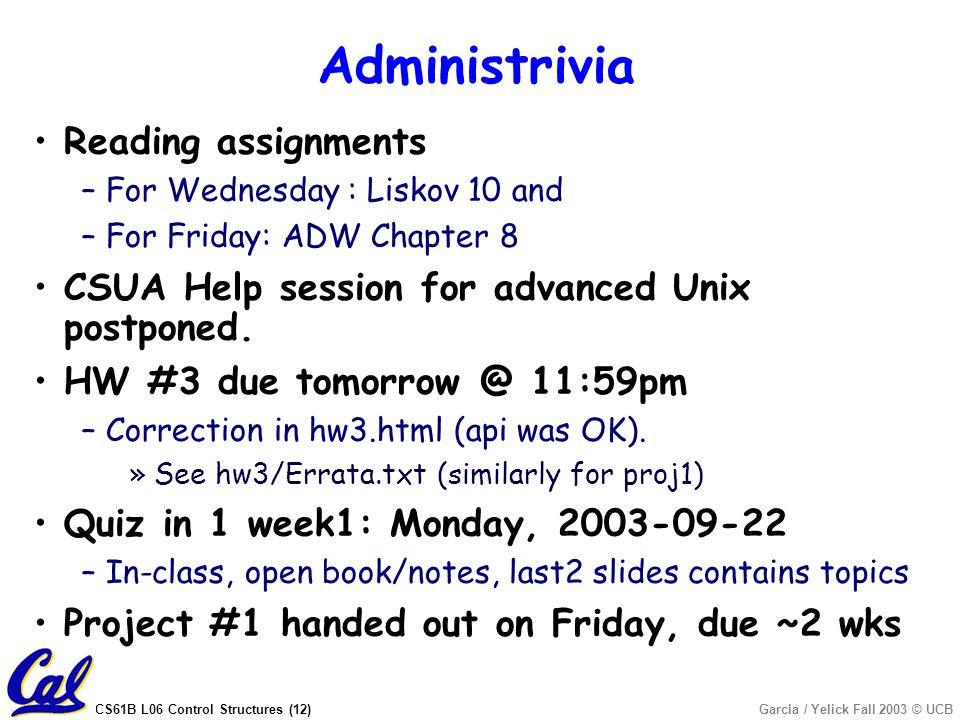 cs61b homework 3