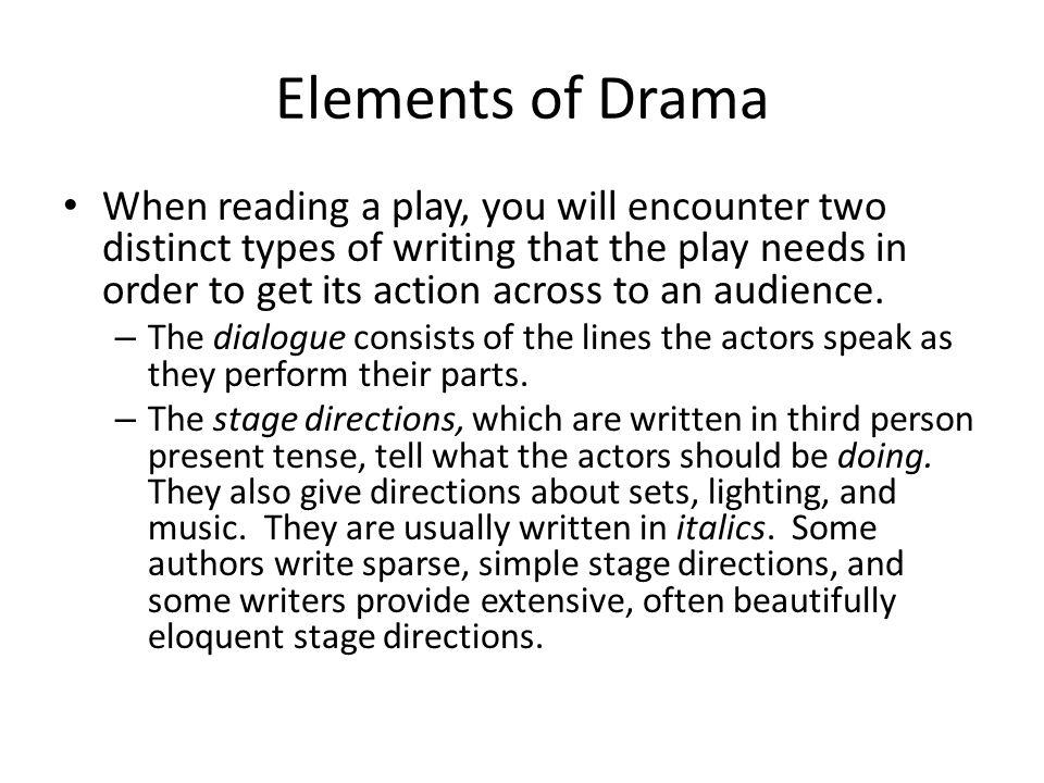 5 Elements Of Drama