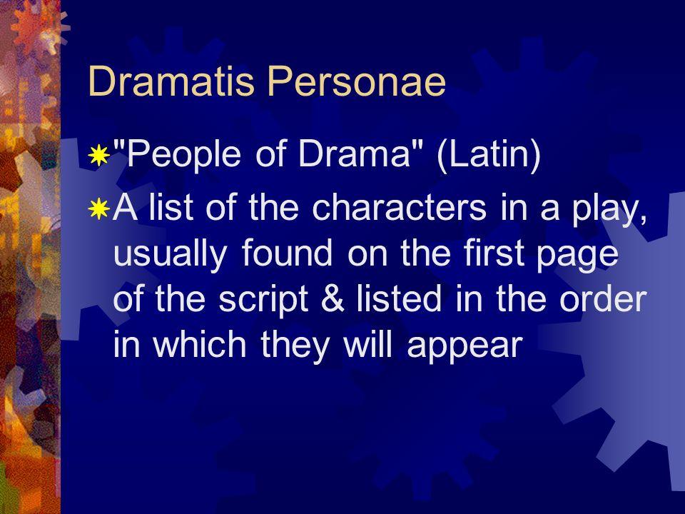 4 Dramatis