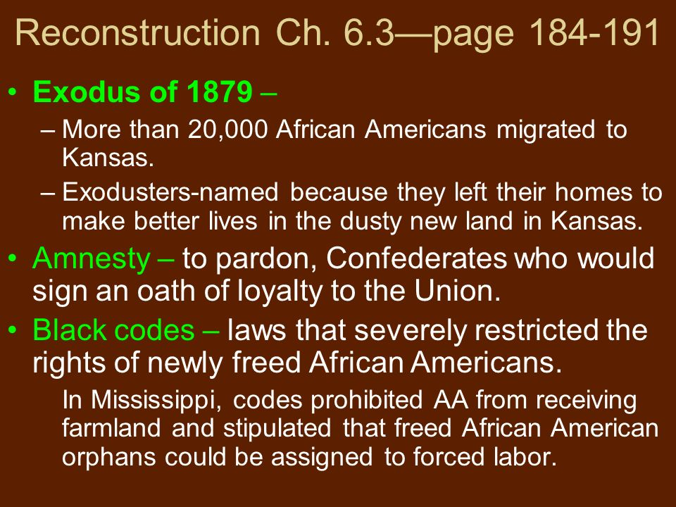 monday 10 26 rap what were black codes give an example of a black