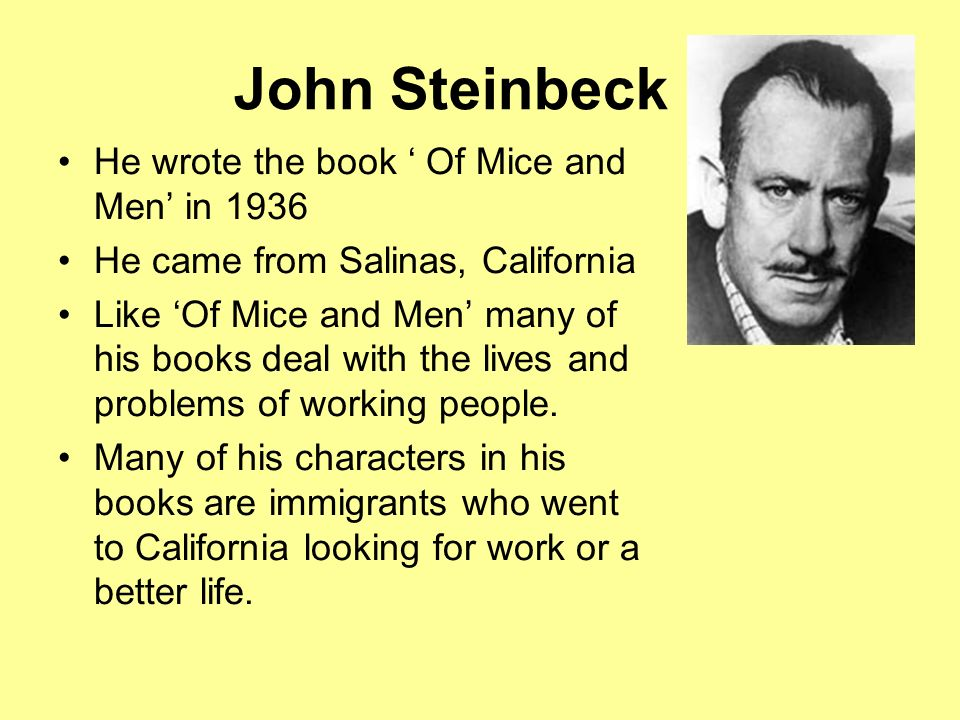 the life of steinbeck