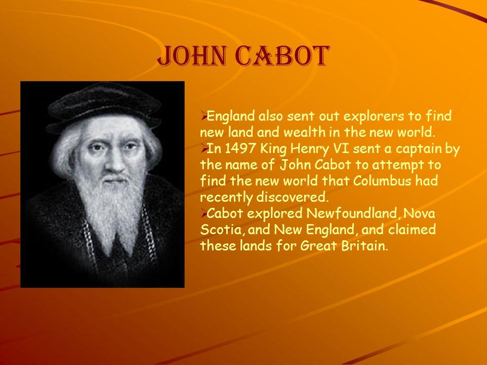 john cabot research