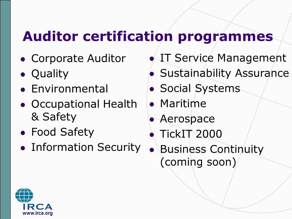 International Register of Certificated Auditors Leading in worldwide ...