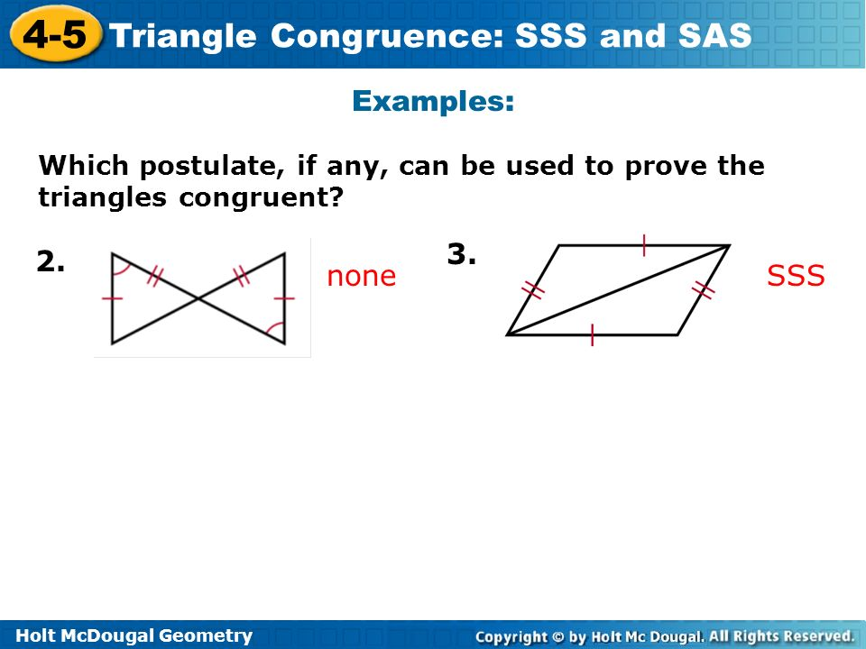 4-5 problem solving triangle congruence sss and sas answers