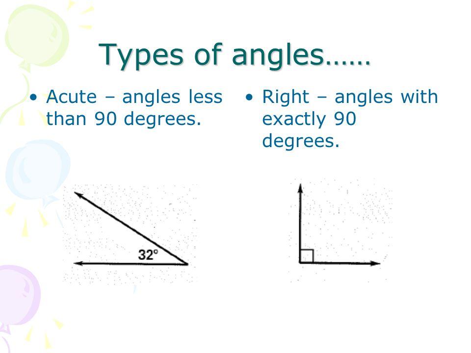 Angle Relationships 90 And 180 Degree Angles 90 Degree Angle180