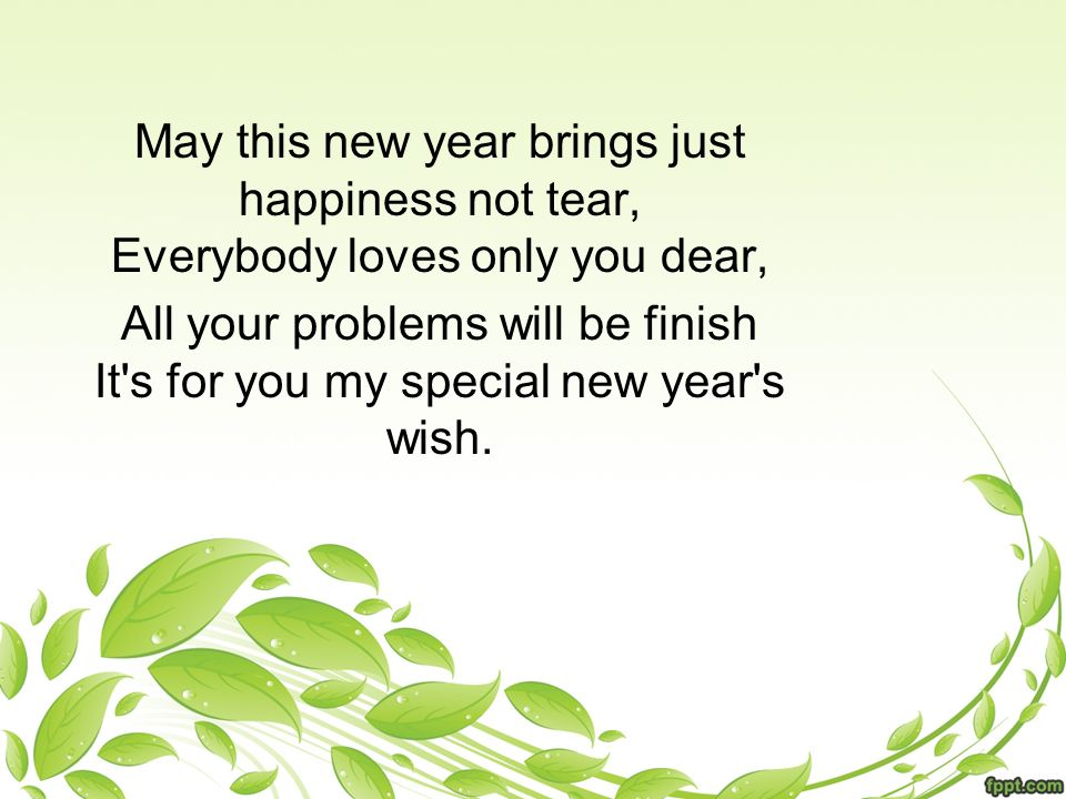 Happy New Years Messages By : - ppt download