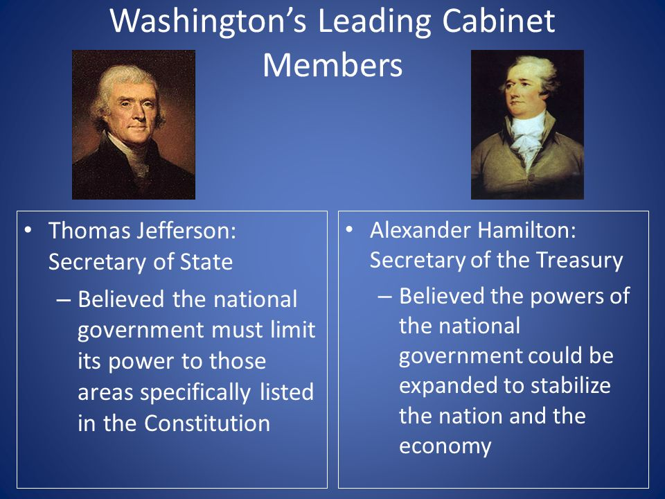 8 Washington S Leading Cabinet Members Thomas Jefferson