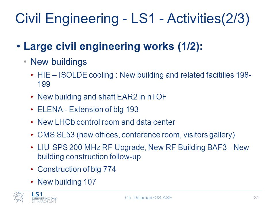 GS activities during LS1 Christophe Delamare GS-ASE EDMS ppt