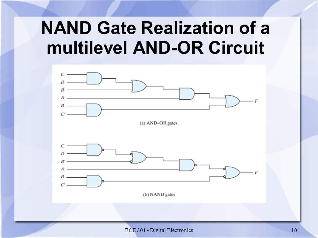 Nand And Nor Circuits Even Odd Logic Functions Ece Gate Circuit Diagram 10