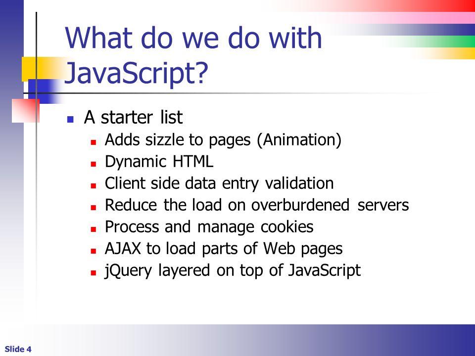 JavaScript Introduction  Slide 2 Lecture Overview JavaScript